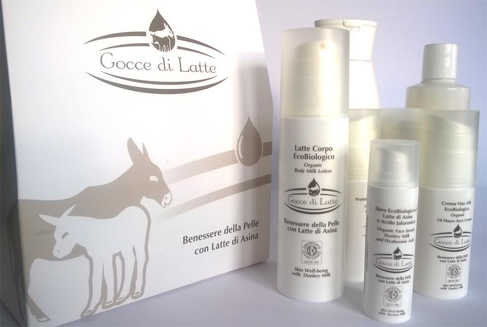 cosmetici prodotti con il prezioso latte di asine di montebaducco